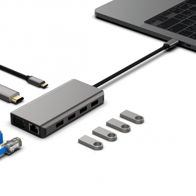 TYPE C TO HDMI+VGA+PD+SD+TF+USB3.0/2+USB2.0/2+RJ45